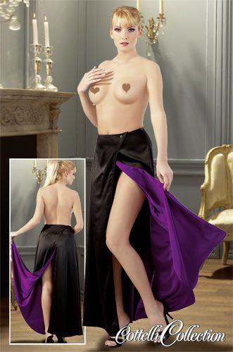 langer Rock schwarz-violett