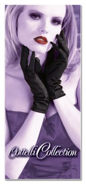 kurze Handschuhe aus Stretch-Satin