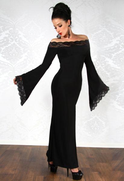 langes schulterfreies Party-Kleid