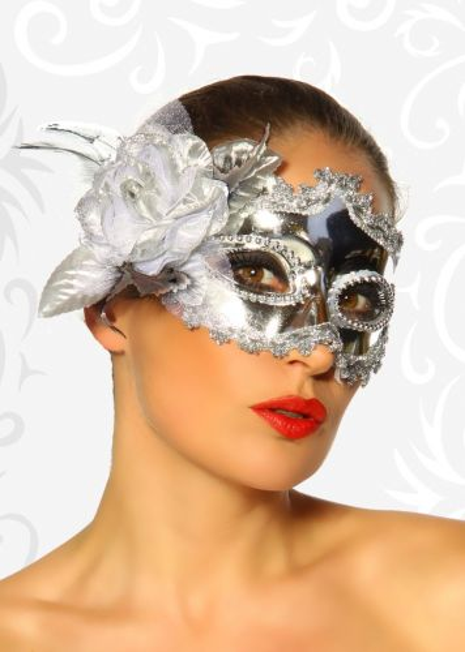 Karneval-Fasching Maske mit Rose