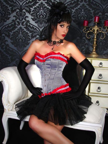 Burlesque-Corsage mit Rüschen
