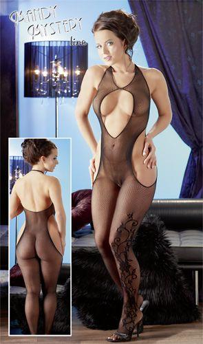 Catsuit ouvert von Mandy Mystery