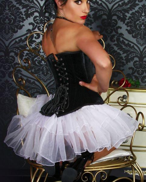 voluminöser Petticoat-Minirock in weiß
