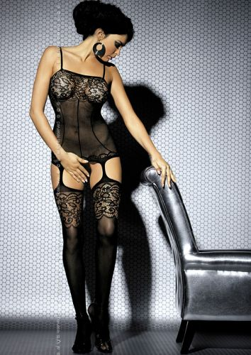 Bodystocking im Straps-Look