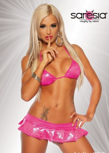 Ultrakurzes Clubwear Set in Pink
