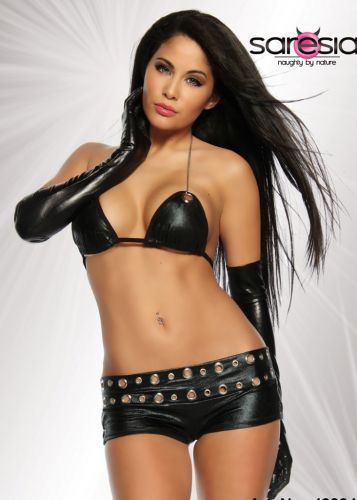 Wetlook Hot-Pants Set
