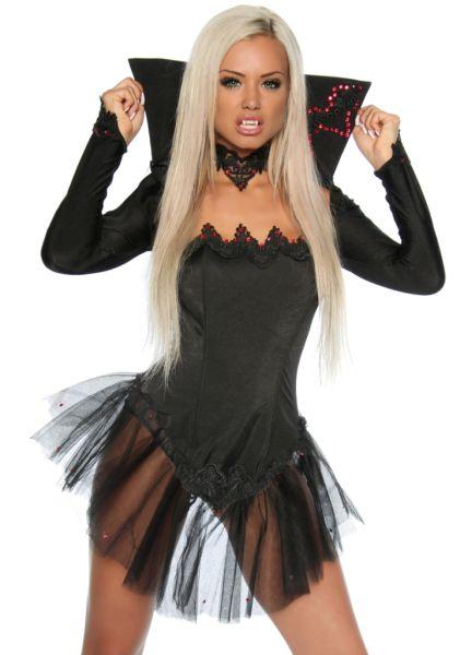 edles Vampir-Kostüm mit Bolero-Jäckchen
