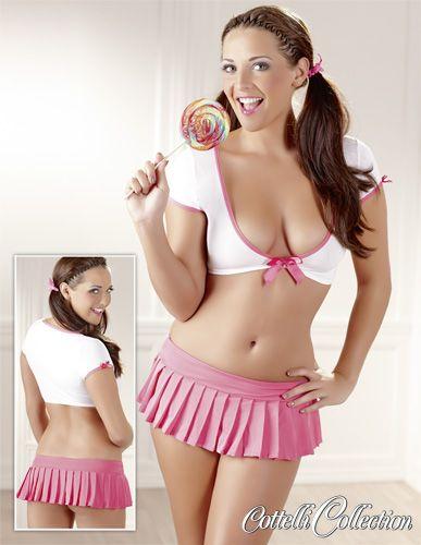 Go Go Girlie-Set in Weiß/Pink