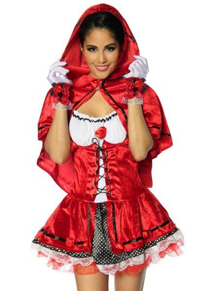 4-tlg Rotkäppchen-Kostüm