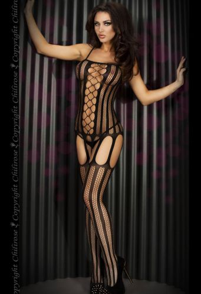 schwarzer Catsuit von Chilirose-Fashion