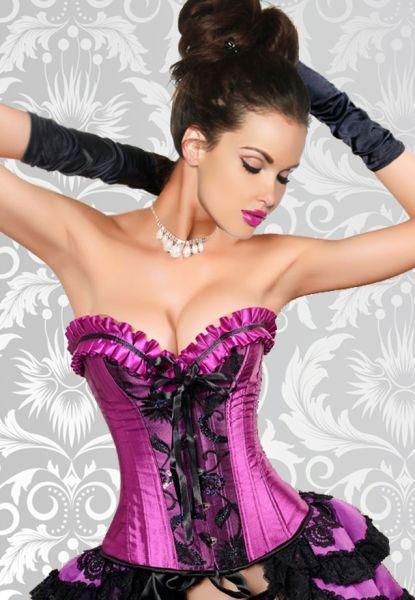 Burlesque-Corsage in Lila