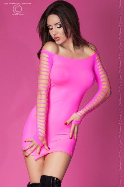 Nahtloses Minikleid in pink