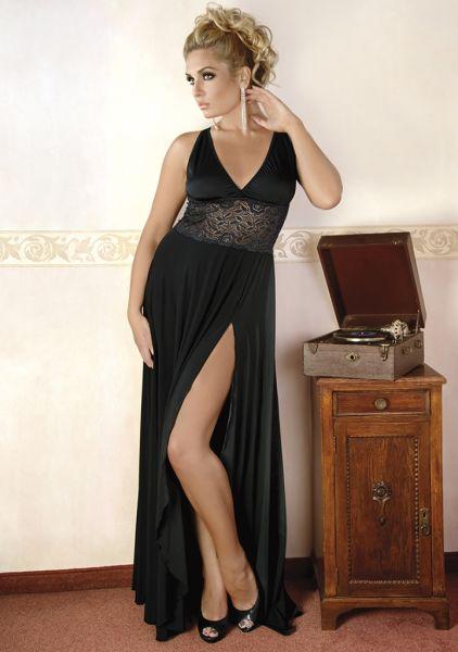 Langes Erotik-Kleid mit Spitze