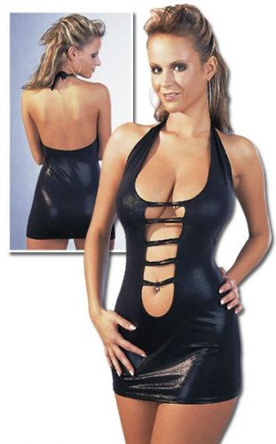 kurzes Minikleid im Wetlook