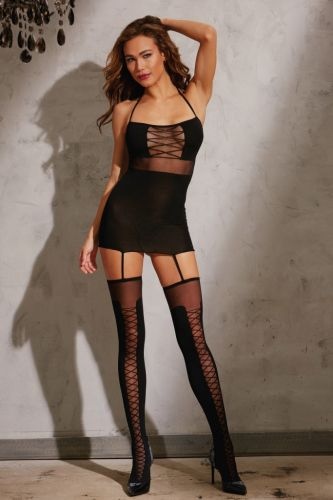 Bodysuit im Garter Dress Design von Dreamgirl
