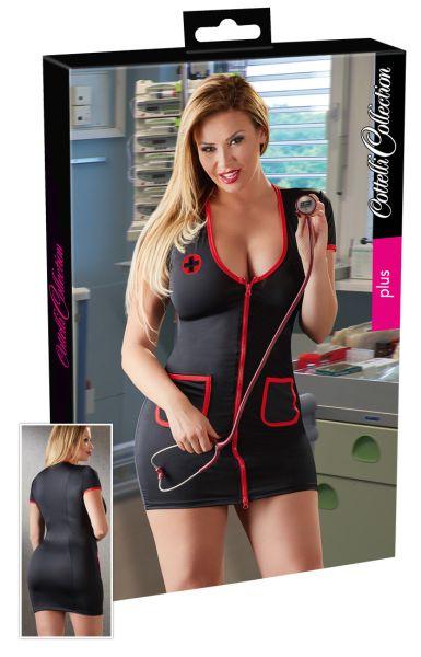 Krankenschwester-Kleid mit Reißverschluss bis 4 XL