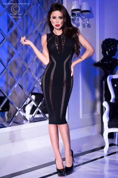 Elegantes, nahtloses Kleid aus elatischem Material