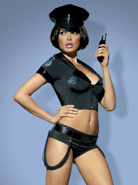 6-teiliges Polizei Kostüm Police-Set