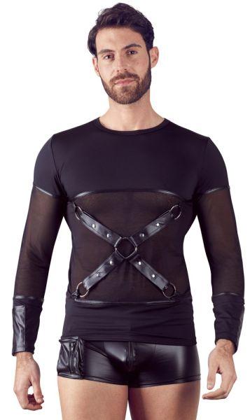 Shirt mit stylischem Brustharness