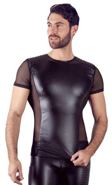 Shirt im Tight-Fit mit gesteppten Schultern