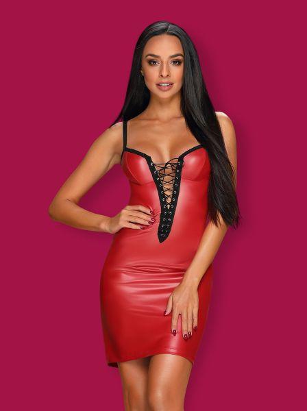 rotes Kleid aus elastischem Material