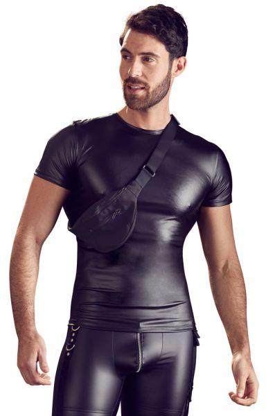 Shirt mit angenähter Bauchtasche