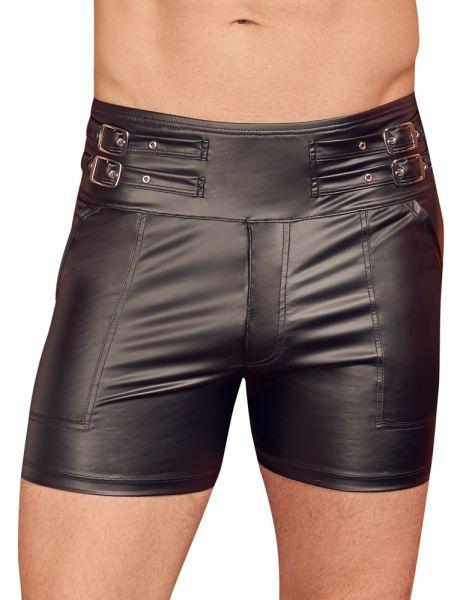 Shorts im trendigen Mattlook mit extra hohem Bund