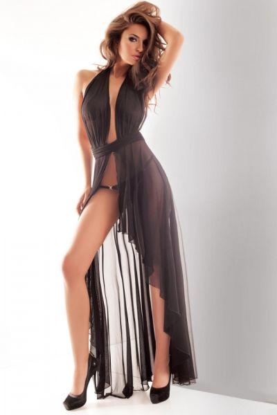 halbtransparentes Kleid aus Tüll