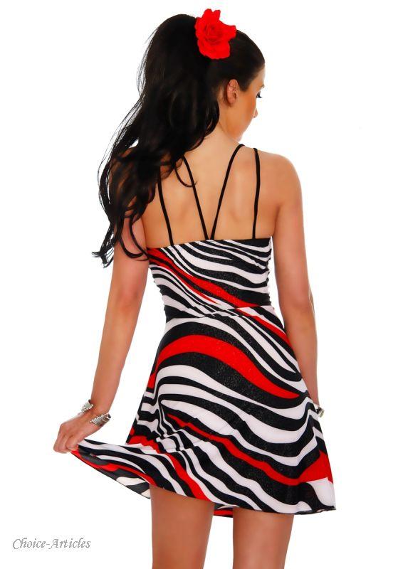 kleid mit zebramuster minikleider online shop choice articles sexy erotische kleidung. Black Bedroom Furniture Sets. Home Design Ideas