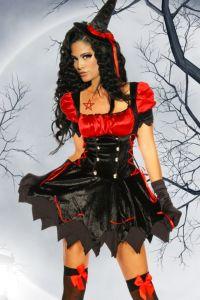 Hexen-Kostüm, Petticoat Kleid