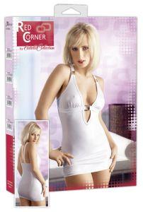 weißes Glanz-Minikleid, Partykleid