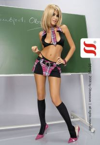 5-teiliges Gogo Officegirl Kostüm