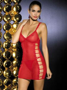 Chemise, Dessous in Rot