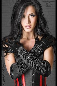 Schwarze Strass-Handschuhe