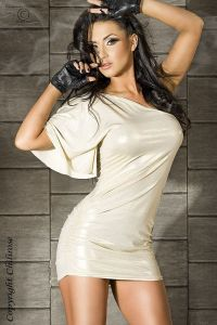Minikleid im Metallic-Look