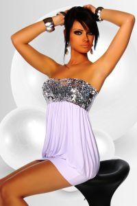 Ballon-Kleid mit Pailletten