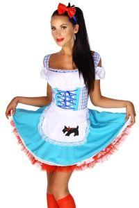 blau - weißes Dirndl Kostüm