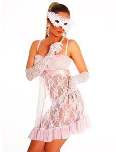 Negligée-Kleid aus Spitze