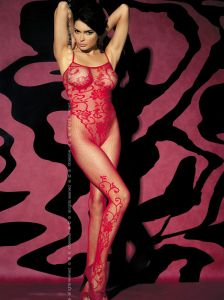 Bodystocking in Rot