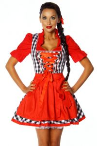 """Dirndl-Kleid """"Traudl"""" in Rot günstig für die Wiesn 2014 kaufen"""