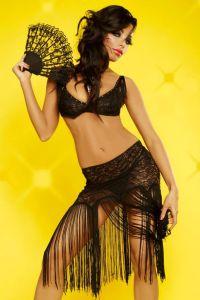 Gogo-Outfit im Latino Style mit Fransen