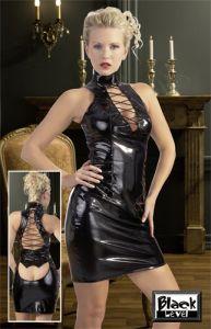 Lack Kleid mit Schnürung