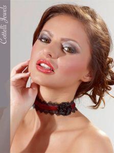 Burlesque Samt-Halsband