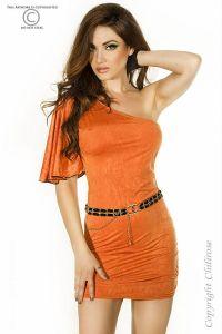 Orangefarbenes Minikleid von Chilirose
