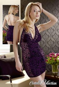 Neckholder-Kleid im Leo-Look