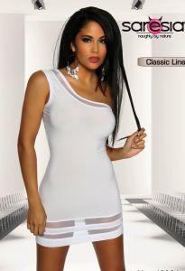 Asymmetrisches Minikleid in Weiß