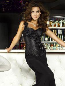 Luxus-Corsage mit Satin-Rosen