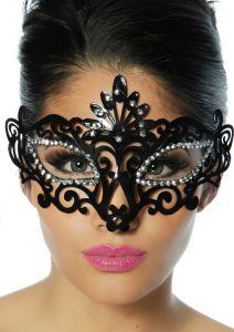 Maske mit funkelnden Strass-Steinen
