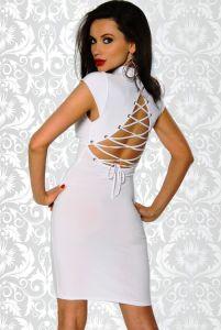 weißes Kleid mit Rücken-Schnürung
