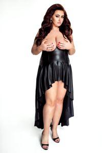Busenfreies Wetlook-Kleid bis Größe 60